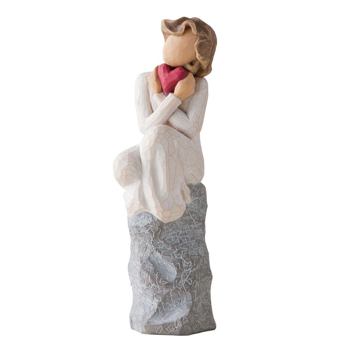 Фигурка Willow Tree Всегда чувство силы твоей любви, 15 см27180Эти прекрасные статуэтки созданы канадским скульптором Сьюзан Лорди. Каждая фигурка – это настоящее произведение искусства, образная скульптура в миниатюре, изображающая эмоции и чувства, которые помогают нам чувствовать себя ближе к другим, верить в мечту, выражать любовь. Каждая фигурка помещена в красивую упаковку. Купить такой оригинальный подарок, значит не только украсить интерьер помещения или жилой комнаты, но выразить свое глубокое отношение к любимому человеку. Этот прекрасный сувенир будет лучшим подарком на день ангела, именины, день рождения, юбилей. Материал: Искусственный камень (49% карбонат кальция мелкозернистой разновидности, 51% искусственный камень)