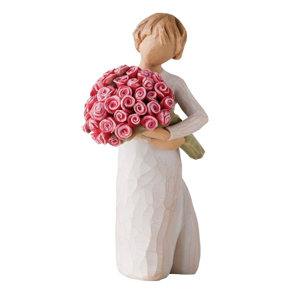 Фигурка Willow Tree Изобилие любви, 16 см27181Эти прекрасные статуэтки созданы канадским скульптором Сьюзан Лорди. Каждая фигурка – это настоящее произведение искусства, образная скульптура в миниатюре, изображающая эмоции и чувства, которые помогают нам чувствовать себя ближе к другим, верить в мечту, выражать любовь. Каждая фигурка помещена в красивую упаковку. Купить такой оригинальный подарок, значит не только украсить интерьер помещения или жилой комнаты, но выразить свое глубокое отношение к любимому человеку. Этот прекрасный сувенир будет лучшим подарком на день ангела, именины, день рождения, юбилей. Материал: Искусственный камень (49% карбонат кальция мелкозернистой разновидности, 51% искусственный камень)