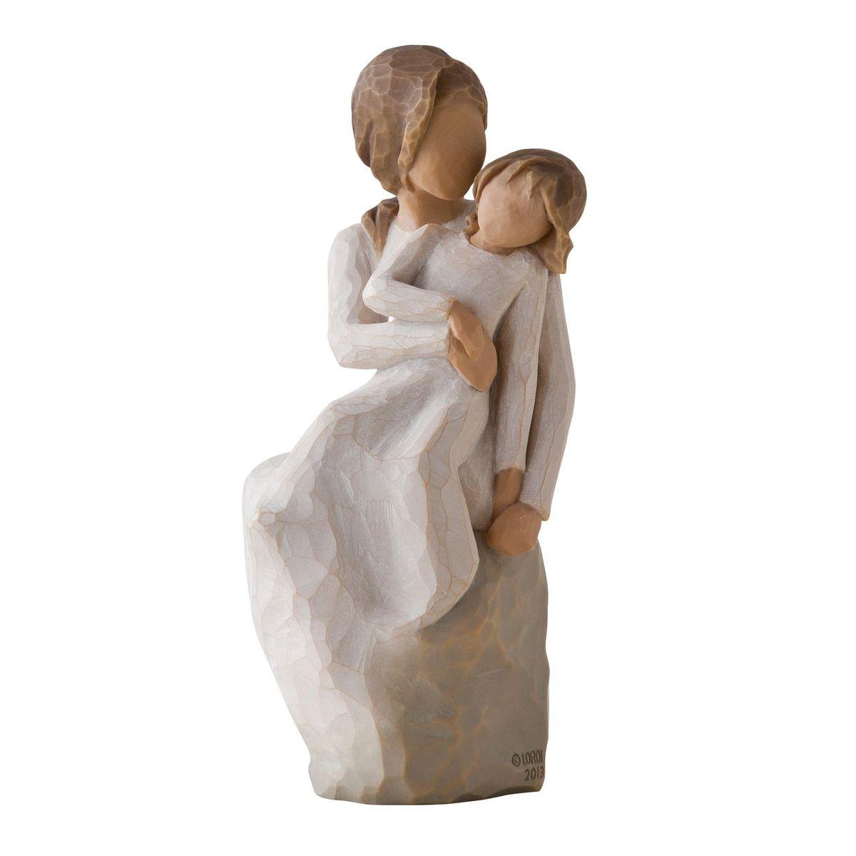 Фигурка Willow Tree Мама и дочка, 16 см27270Эти прекрасные статуэтки созданы канадским скульптором Сьюзан Лорди. Каждая фигурка – это настоящее произведение искусства, образная скульптура в миниатюре, изображающая эмоции и чувства, которые помогают нам чувствовать себя ближе к другим, верить в мечту, выражать любовь. Каждая фигурка помещена в красивую упаковку. Купить такой оригинальный подарок, значит не только украсить интерьер помещения или жилой комнаты, но выразить свое глубокое отношение к любимому человеку. Этот прекрасный сувенир будет лучшим подарком на день ангела, именины, день рождения, юбилей. Материал: Искусственный камень (49% карбонат кальция мелкозернистой разновидности, 51% искусственный камень)