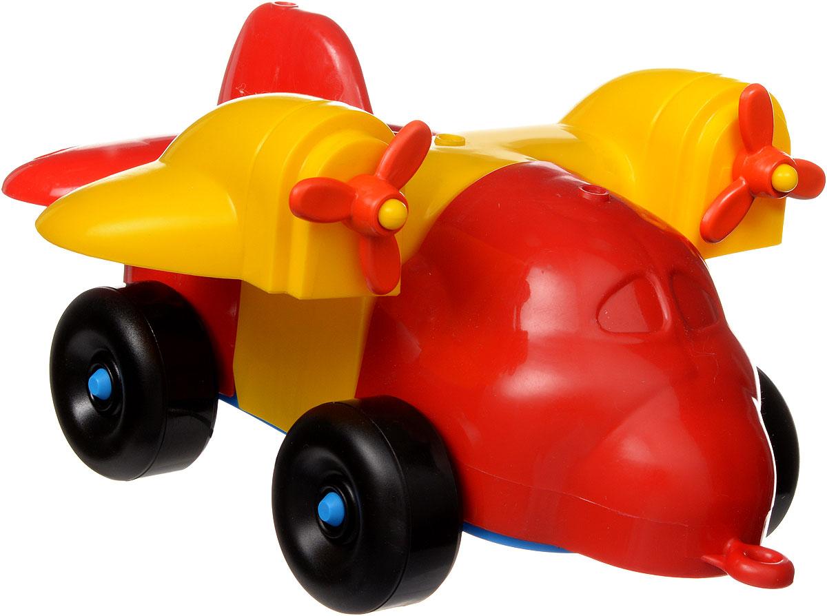 Bauer toys Игрушка-каталка Самолет284_красный, желтыйИгрушка-каталка Bauer Самолет обязательно привлечет внимание вашего малыша. Игрушка состоит из нескольких крупных элементов разных цветов, из которых можно собрать самолет на колесиках. Также в комплект входит веревочка, которую можно привязать к игрушке, чтобы ребенок мог катить ее за собой. Игрушка выполнена из высококачественного пластика с использованием пищевых красителей. С такой игрушкой ваш ребенок весело проведет время, играя на детской площадке или в песочнице. А процесс сборки игрушки-конструктора поможет малышу развить мелкую моторику пальчиков, внимательность и усидчивость. Порадуйте своего малыша такой чудесной игрушкой!
