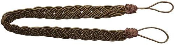 Подхват для штор Goodliving Коса, цвет: зелено-коричневый, длина 65 см, 2 шт