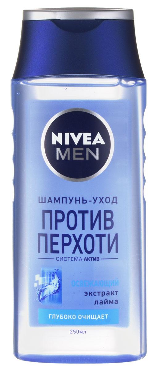 NIVEA Шампунь против перхоти «Освежающий» 250 мл100385576Шампунь Nivea for Men Pure с экстрактом лайма эффективно устраняет и предотвращает перхоть. Мягко ухаживает за волосами и кожей головы. Заметно укрепляет волосы. Волосы становятся сильными и здоровыми. Подходит для ежедневного применения. Характеристики: Объем: 250 мл. Производитель: Россия. Артикул: 81550. Товар сертифицирован.