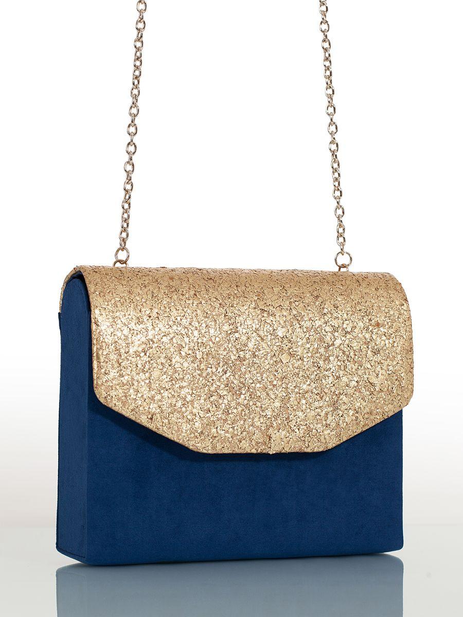 Сумка вечерняя жен. Eleganzza, цвет: темно-синий. ZZ-5189ZZ-5189Женская сумка-клатч торговой марки ELEGANZZA. Сумка закрывается на магнит. Внутри - одно отделение, в котором есть один кармашек. Модель имеет ремень в виде цепочки. Длина наплечного ремня - 130 см.