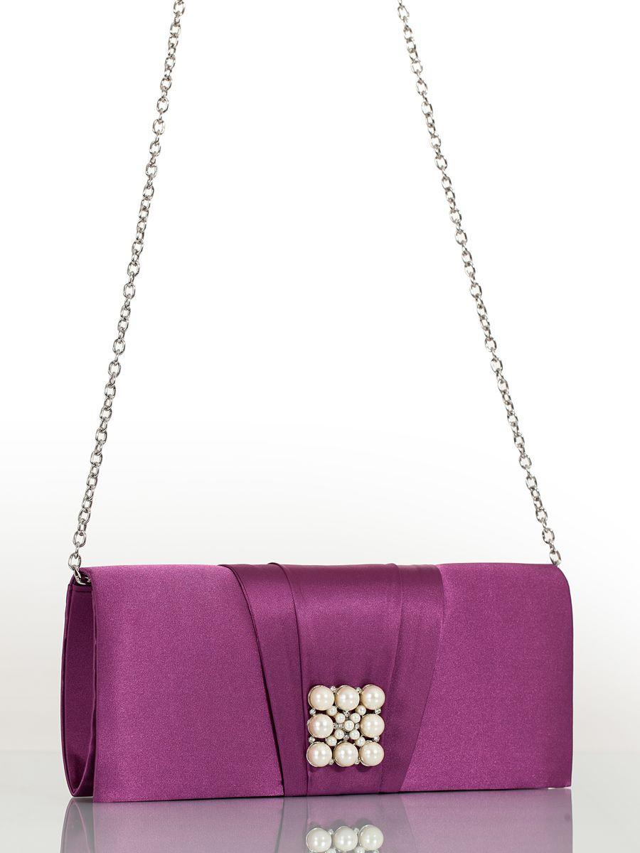Клатч вечерний жен. Eleganzza, цвет: фиолетовый. ZZ-13459-2ZZ-13459-2Женская сумка-клатч торговой марки ELEGANZZA. Сумка закрывается на магнит. Внутри - одно отделение, в котором есть один кармашек. Модель имеет ремень в виде цепочки. Длина наплечного ремня - 115 см.