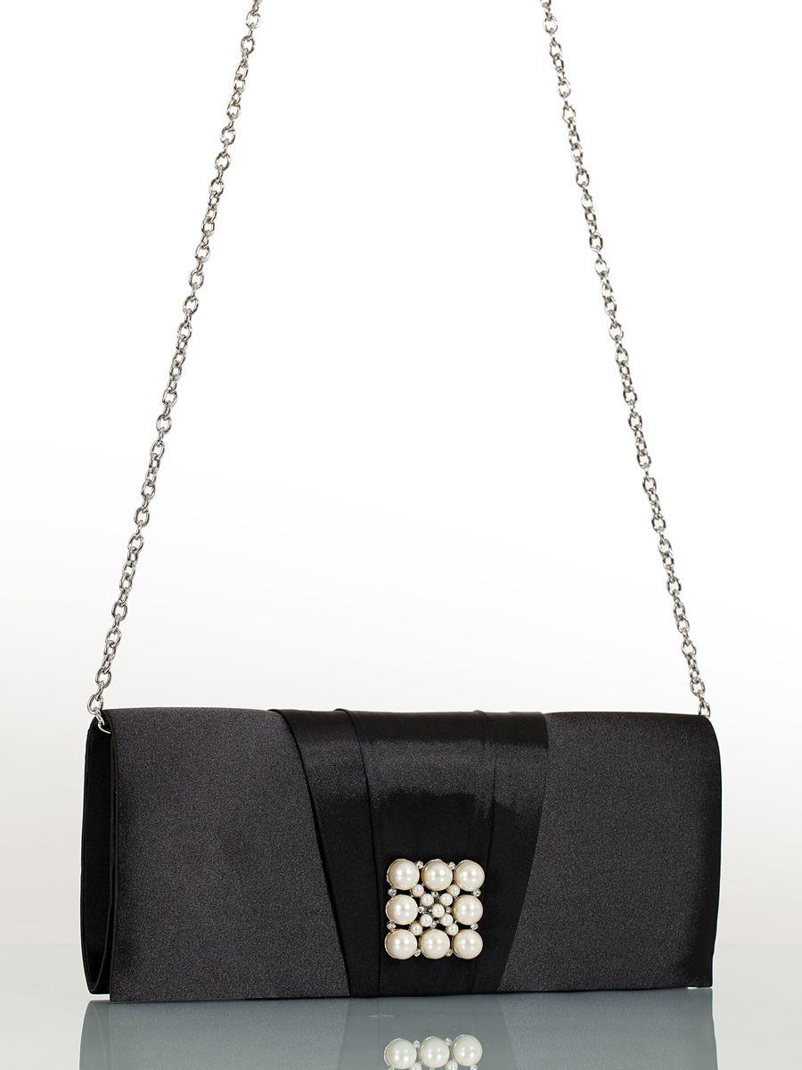 Клатч вечерний жен. Eleganzza, цвет: черный. ZZ-13459-2ZZ-13459-2Женская сумка-клатч торговой марки ELEGANZZA. Сумка закрывается на магнит. Внутри - одно отделение, в котором есть один кармашек. Модель имеет ремень в виде цепочки. Длина наплечного ремня - 115 см.