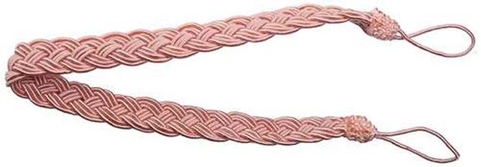 Подхват для штор Goodliving Коса, цвет: бледно-розовый, длина 65 см, 2 шт