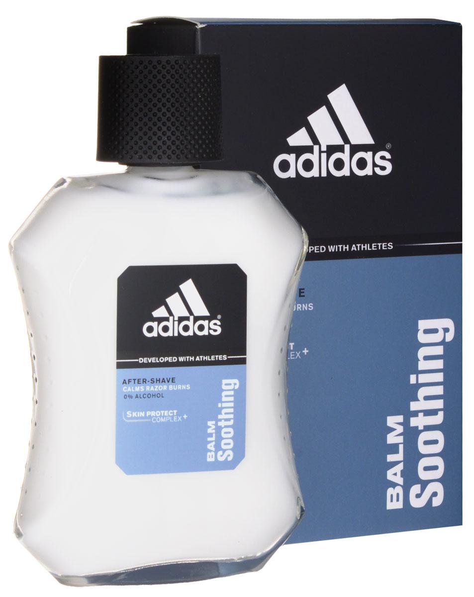 Adidas Balm Soothing. Бальзам после бритья, успокаивающий, 100 мл3400108113Успокаивающий бальзам после бритья Adidas Balm Soothing предназначен для чувствительной кожи. Снимает раздражение и заживляет мелкие порезы. Обогащен запатентованной активной клеточной системой Cellular Active System, которая защищает Вашу кожу от преждевременного старения возникающего под воздействием свободных радикалов. Содержит провитамин аллантоин, который смягчает чувствительную кожу и придает комфорт. Легкая текстура идеально впитывается. Не содержит спирт. Дерматологически проверен. Уважаемые клиенты! Обращаем ваше внимание на допустимые незначительные изменения в дизайне - некоторые детали товара могут отличаться от товара, изображенного на фотографии.