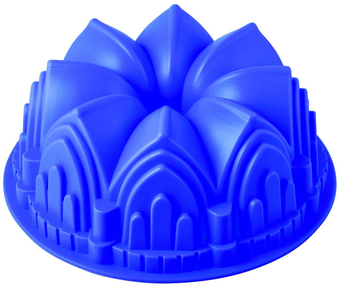 Форма для выпечки и заморозки Regent Inox Готика, силиконовая, цвет: фиолетовый, диаметр 23 см93-SI-FO-51Форма для выпечки и заморозки Готика выполнена из силикона и предназначена для изготовления выпечки, желе, льда и даже мыла. Силиконовые формы выдерживают высокие и низкие температуры (от -40°С до +230°С). Они эластичны, износостойки, легко моются, не горят и не тлеют, не впитывают запахи, не оставляют пятен. Силикон абсолютно безвреден для здоровья. Не используйте моющие средства, содержащие абразивы. Можно мыть в посудомоечной машине. Подходит для использования во всех типах печей.