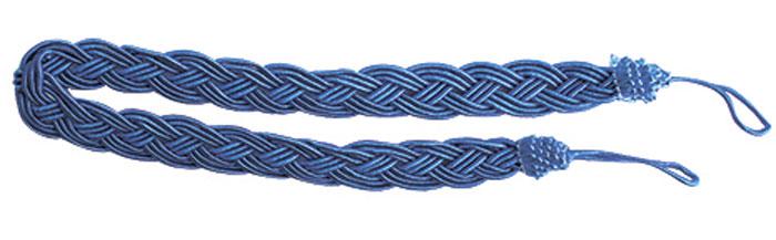 Подхват для штор Goodliving Коса, цвет: васильковый (43), длина 62 см, 2 шт. 7711741