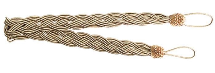 Подхват для штор Goodliving Коса, цвет: латте (34), длина 62 см, 2 шт. 7711741