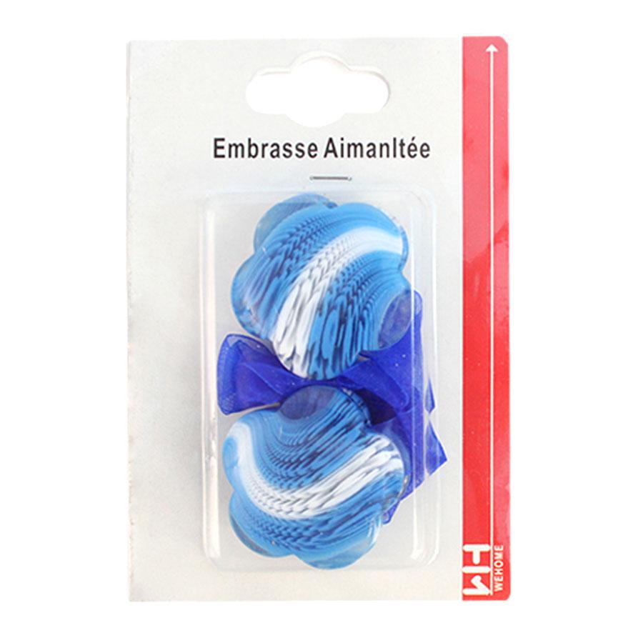 Подхват для штор Wehome, на магнитах, цвет: белый, голубой, 2 шт7711304_голубойПодхват для штор Wehome, выполненный из пластика, можно использовать как держатель для штор или для формирования декоративных складок на ткани. С его помощью можно зафиксировать шторы или скрепить их, придать им требуемое положение, сделать симметричные складки. Благодаря магнитам подхват легко надевается и снимается. Подхват для штор является универсальным изделием, которое превосходно подойдет для любых видов штор. Подхваты придадут шторам восхитительный, стильный внешний вид и добавят уют в интерьер помещения. Длина подхвата: 29 см.