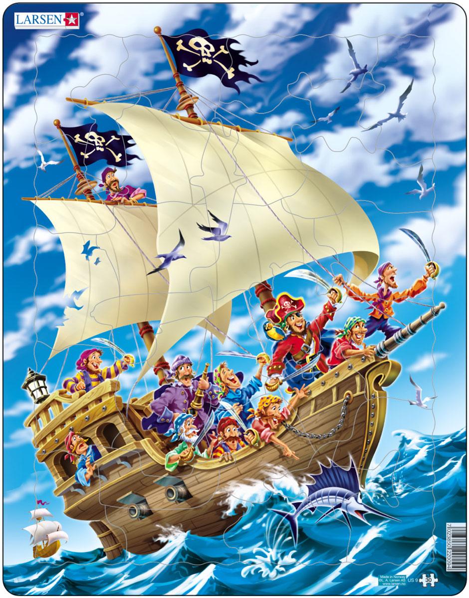 Larsen Пазл ПиратыUS9Пазл Larsen Пираты изображает пиратский корабль с веселой и отважной компанией пиратов, которая направляется на новые поиски затерянных сокровищ. Выполненные из высококачественного трехслойного картона, пазлы не деформируются и легко берутся в руки. Все пазлы снабжены специальной подложкой, благодаря чему их удобно собирать. Размер готового пазла: 36,5 см х 28,5 см.