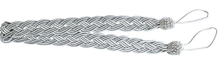 Подхват для штор Goodliving Коса, цвет: серебристый (10), длина 62 см, 2 шт. 77117417711741_10 серебряныйПодхват для штор Goodliving Коса представляет собой плотный узор, плетеный в виде косы. Изделие оснащено петлями для фиксации штор, гардин и портьер. Подхват - это основной вид фурнитуры в декоре штор, сочетающий в себе не только декоративную функцию, но и практическую - регулировать поток света. Такой аксессуар способен украсить любую комнату. Длина подхвата (с учетом петель): 62 см. Ширина подхвата: 2,5 см.