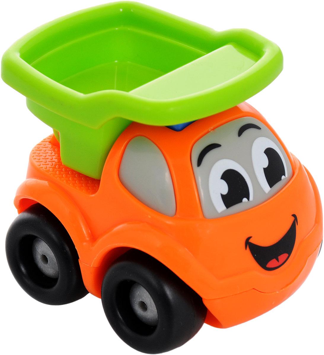 Smoby Машинка Vroom Planet цвет оранжевый салатовый211257_оранжево, салатовыйМини-машинка Smoby Vroom Planet привлечет внимание вашего ребенка и надолго останется его любимой игрушкой. Плавные формы без острых углов, яркие цвета - все это выгодно выделяет эту игрушку из ряда подобных. Машинка в виде маленького самосвала, у которого поднимается кузов. Кабина машинки оформлена в виде лица - на лобовом стекле видны глазки, а на капоте - задорная улыбка. Машинка развивает концентрацию внимания, координацию движений, мелкую моторику рук, цветовое восприятие и воображение. Малыш будет часами играть с этой машинкой, придумывая разные истории.