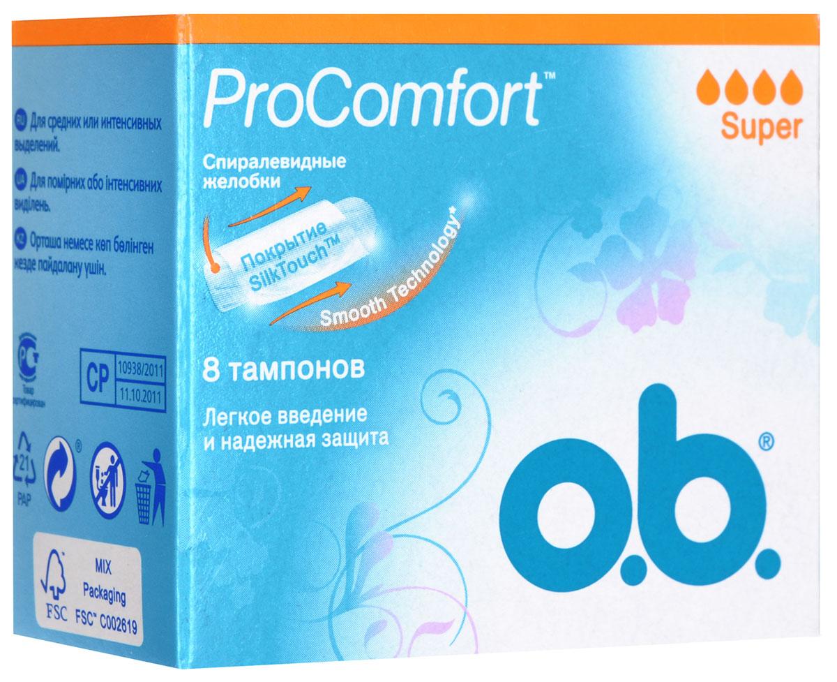 O.B. Тампоны ProComfort Super, 8 шт38539