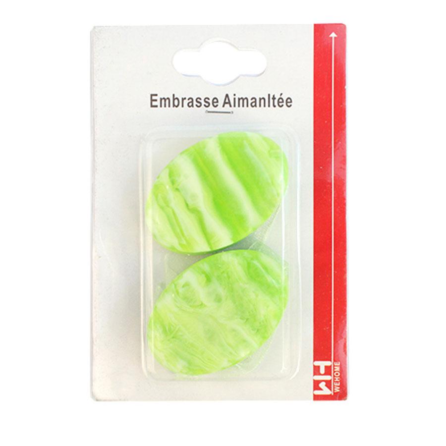 Подхват для штор Wehome, на магнитах, цвет: зеленый, 2 шт. 77113027711302_зеленыйПодхват для штор Wehome, выполненный из пластика, можно использовать как держатель для штор или для формирования декоративных складок на ткани. С его помощью можно зафиксировать шторы или скрепить их, придать им требуемое положение, сделать симметричные складки. Благодаря магнитам подхват легко надевается и снимается. Подхват для штор является универсальным изделием, которое превосходно подойдет для любых видов штор. Подхваты придадут шторам восхитительный, стильный внешний вид и добавят уют в интерьер помещения. Длина подхвата: 35 см.
