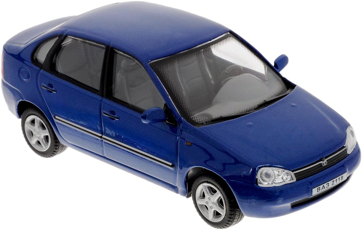 Cararama Модель автомобиля ВАЗ 2118 Lada Kalina цвет синийLC230ND_синийКоллекционная модель Cararama ВАЗ 2118 Lada Kalina - миниатюрная копия настоящего автомобиля. Стильная модель автомобиля привлечет к себе внимание не только детей, но и взрослых. Модель имеет литой металлический корпус с высокой детализацией интерьера салона, дисков. Игрушка в точности повторяет модель оригинальной техники, подробная детализация в полной мере позволит вам оценить высокую точность копии этой машины! Такая модель станет отличным подарком не только любителю автомобилей, но и человеку, ценящему оригинальность и изысканность, а качество исполнения представит такой подарок в самом лучшем свете.