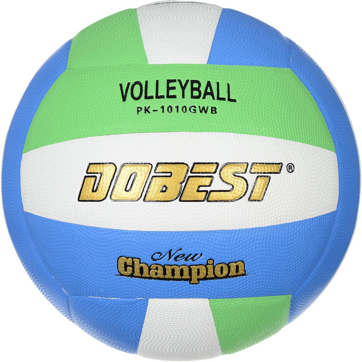 Мяч волейбольный Dobest, цвет: белый, синий, зеленый. Размер 5PK-1010GWBВолейбольный мяч Dobest подойдет для любительской игры на улице и в зале. Изделие выполнено из высококачественной синтетической кожи и микрофибры, камера - резина. Панели клееные. Количество панелей: 18. Количество слоев: 4. Вес: 260-280 г. УВАЖЕМЫЕ КЛИЕНТЫ! Обращаем ваше внимание на тот факт, что мяч поставляется в сдутом виде. Насос не входит в комплект.