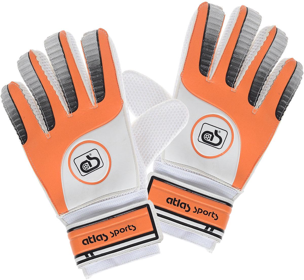 """ATLAS Перчатки вратарские """"Atlas"""", цвет: оранжевый, белый"""