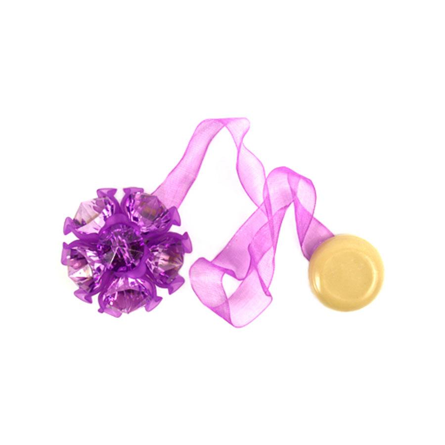 Клипса-магнит для штор Астра, цвет: сиреневый, 2 шт7713413_8121 сиреневыйКлипса-магнит Астра, изготовленная из акрила и текстиля, предназначена для придания формы шторам. Изделие представляет собой два магнита, расположенные на разных концах текстильной ленты. Один из магнитов оформлен декоративным цветком. С помощью такой магнитной клипсы можно зафиксировать портьеры, придать им требуемое положение, сделать складки симметричными или приблизить портьеры, скрепить их. Клипсы для штор являются универсальным изделием, которое превосходно подойдет как для штор в детской комнате, так и для штор в гостиной. Следует отметить, что клипсы для штор выполняют не только практическую функцию, но также являются одной из основных деталей декора этого изделия, которая придает шторам восхитительный, стильный внешний вид. Диаметр декоративного цветка: 4,5 см. Диаметр магнита: 2 см. Длина ленты: 27 см.