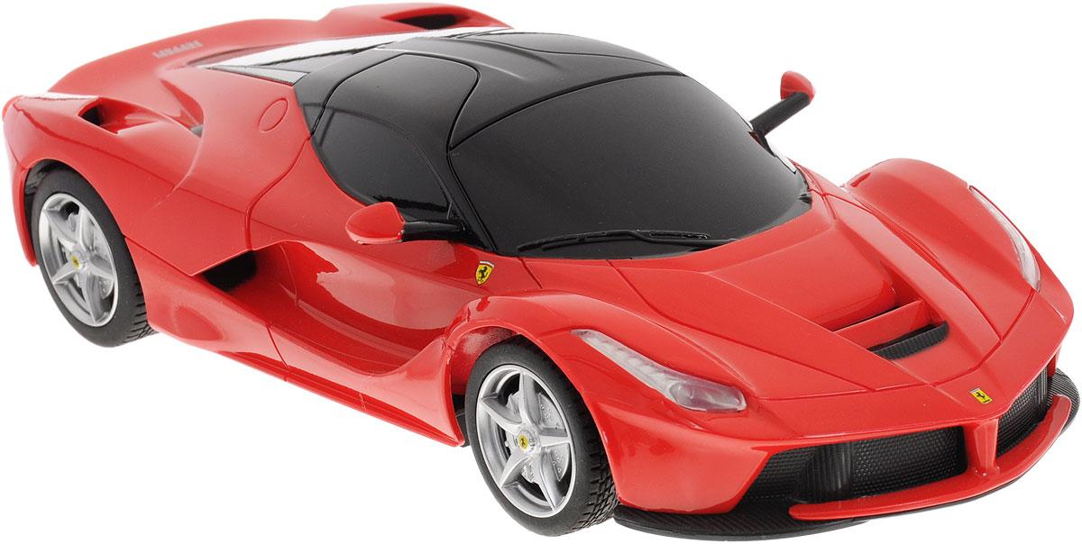 Rastar Радиоуправляемая модель Ferrari LaFerrari цвет красный масштаб 1:2448900_красныйРадиоуправляемая модель Rastar Ferrari LaFerrari станет отличным подарком любому мальчику! Все дети хотят иметь в наборе своих игрушек ослепительные, невероятные и крутые автомобили на радиоуправлении. Тем более, если это автомобиль известной марки с проработкой всех деталей, удивляющий приятным качеством и видом. Одной из таких моделей является автомобиль на радиоуправлении Rastar Ferrari LaFerrari. Это точная копия настоящего авто в масштабе 1:24. Возможные движения: вперед, назад, вправо, влево, остановка. Имеются световые эффекты. Пульт управления работает на частоте 27 MHz. Для работы игрушки необходимы 3 батарейки типа АА (не входят в комплект). Для работы пульта управления необходимы 2 батарейки типа АА (не входят в комплект).