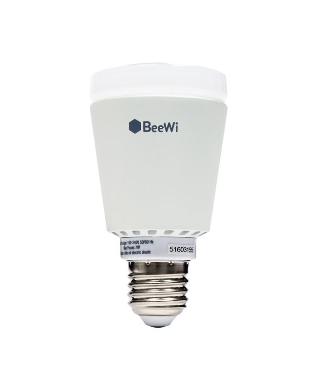 Беспроводная лампа BeeWi Bluetooth Smart LED Color Bulb E27 7W. BBL227A1BBL227A1Беспроводная лампа BeeWi Bluetooth Smart LED Color Bulb E27 530 Люмен, 7Вт ~ 50Вт Класс энергопотребления: A+ 16 миллионов цветов 3000k – 6000k температура цвета Версия Bluetooth: Bluetooth Smart 4.0 Low Energy Жизненный цикл: 15000 часов (20 лет по 3 часа в день) Настраиваемая яркость Радиус действия Bluetooth до 20 метров Обновление ПО Цоколь - E27 Требование по питанию: AC 85 - 265В / 50 - 60 Гц Размеры:109 x 60мм