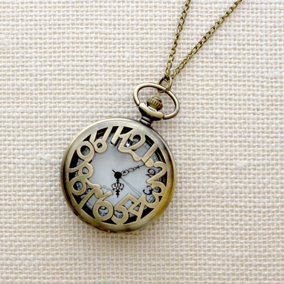 Кулон-часы Циферки (большой). ANTIK-131 ( ANTIK-131 )