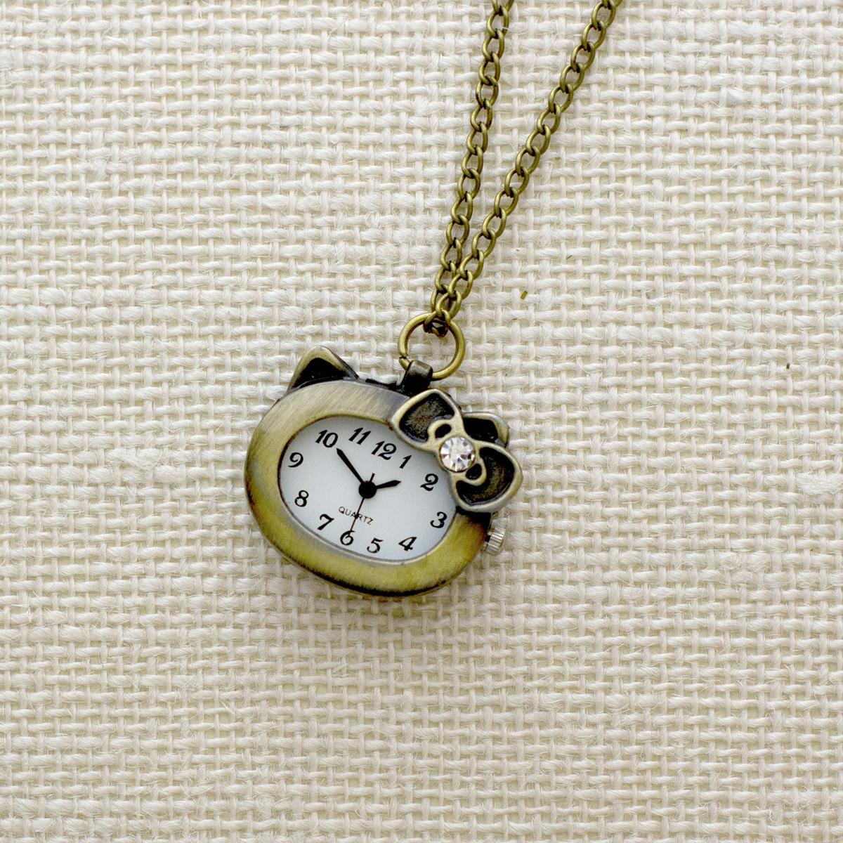 Кулон-часы Милая Китти. ANTIK-165 ( ANTIK-165 )