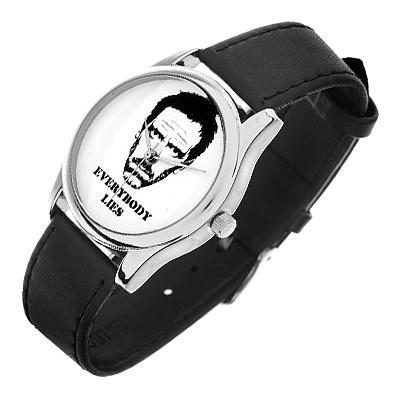 Часы наручные мужские Mitya Veselkov Доктор Хаус, цвет: серебряный, черный, белый. MV-033MV-033Оригинальные мужские часы Mitya Veselkov Доктор Хаус выполнены из металлического сплава, натуральной кожи и минерального стекла. Циферблат изделия оформлен изображением денежных банкнот. Корпус часов оснащен японским кварцевым механизмом, а также дополнен минеральным стеклом и имеет степень влагозащиты равную 3 atm. Ремешок дополнен практичной пряжкой, которая позволит моментально снимать и одевать часы без лишних усилий. Часы поставляются в фирменном стакане. Часы Mitya Veselkov подчеркнут отменное чувство стиля у их обладателя.