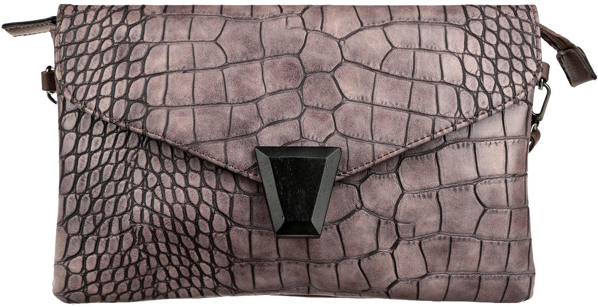 Клатч женский David Jones, цвет: коричневый, розово-серый. СМ2821 сумка case
