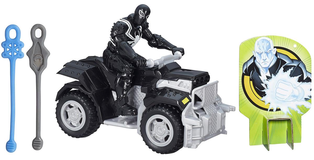 Spider-Man Агент Веном на боевом квадроциклеB0569_В1466Агент Веном на своем багги с высокой проходимостью готов к атакам и погоням за плохими парнями! Набор включает эксклюзивную фигурку Венома и его транспортное средство - багги-квадроцикл. Фигурку можно снять с транспортного средства. Руки, ноги и голова подвижны. Также в комплекте имеется два снаряда- паутинки и мишень, по которой можно стрелять. Чтобы совершить выстрел по мишени, необходимо прикрепить один конец паутинки к машинке, взяться за противоположный конец и потянуть его на себя. Отпустив паутинку, ребенок увидит, как она выстрелит и ударит прямо в мишень! Упражняясь в стрельбе, можно натренировать ловкость и меткость.