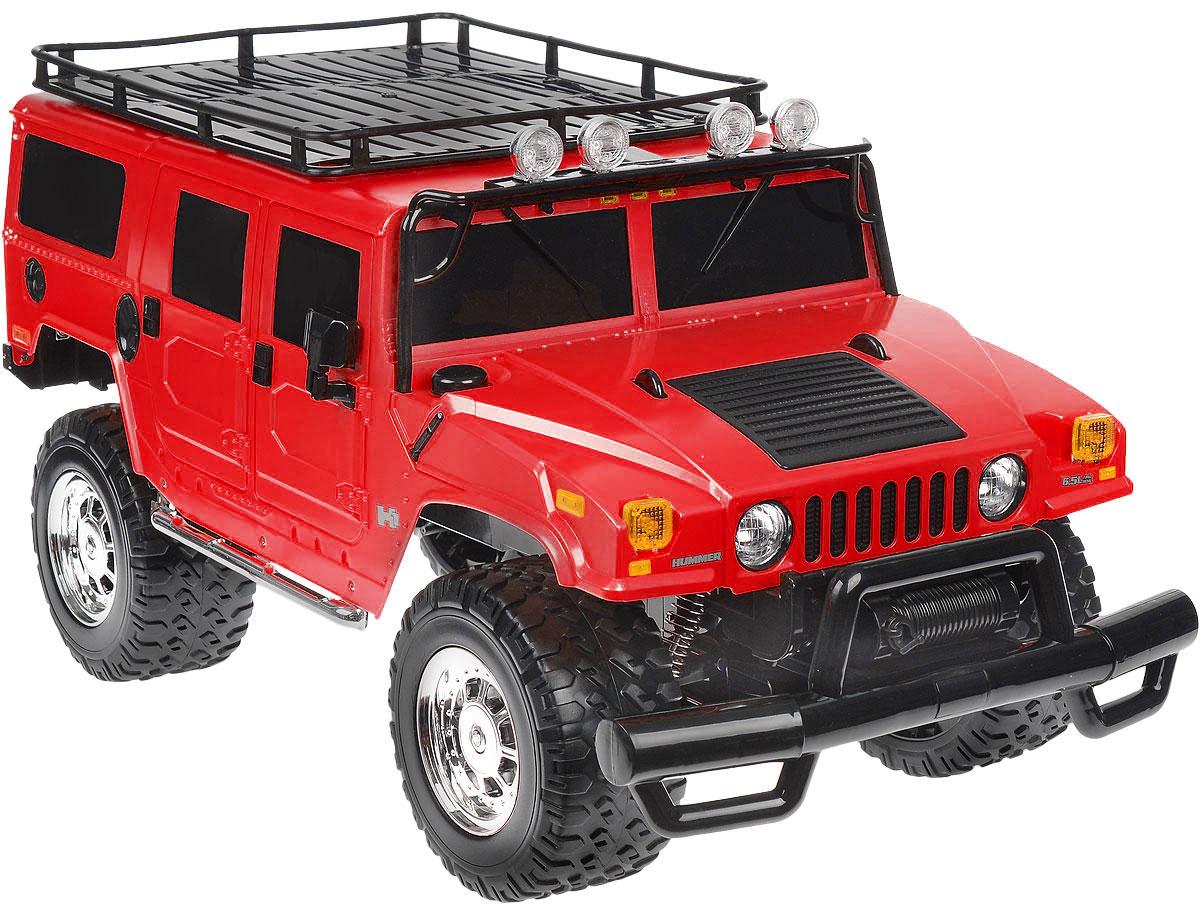 Rastar Радиоуправляемая модель Hummer H1 Suv цвет красный28600_красныйРадиоуправляемая модель Rastar Hummer H1 Suv станет отличным подарком любому мальчику! Все дети хотят иметь в наборе своих игрушек ослепительные, невероятные и крутые автомобили на радиоуправлении. Тем более, если это автомобиль известной марки с проработкой всех деталей, удивляющий приятным качеством и видом. Одной из таких моделей является автомобиль на радиоуправлении Rastar Hummer H1 Suv. Это точная копия настоящего авто в масштабе 1:6. Возможные движения: вперед, назад, вправо, влево, остановка. Имеются световые эффекты. Пульт управления работает на частоте 40 MHz. Игрушка работает на сменном аккумуляторе (входит в комплект). Для работы пульта управления необходима 1 батарейка 9V (6F22) (не входит в комплект).