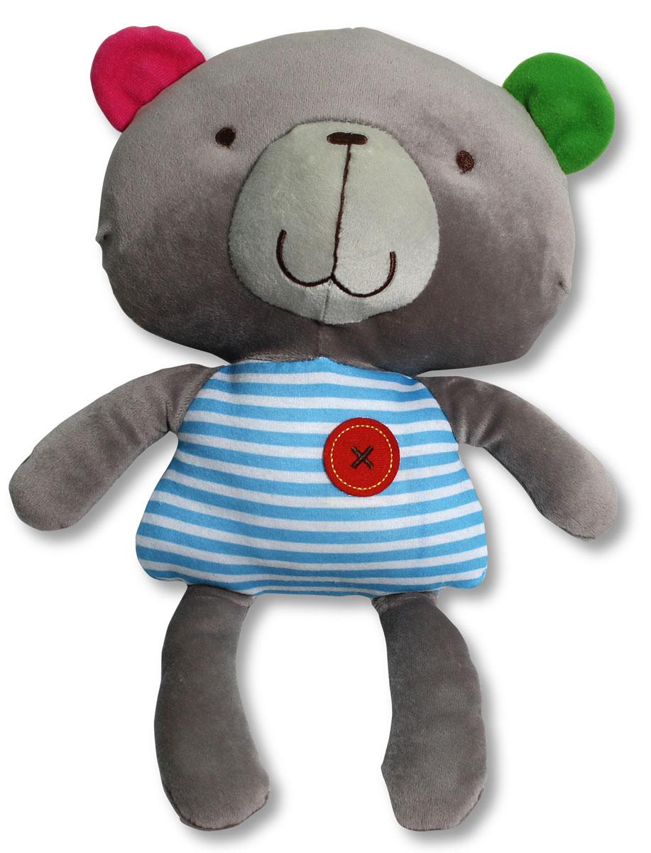 Bobby & Friends Мягкая игрушка Обучающий Бобби 34 смТ57147Мягкая игрушка Обучающий Бобби от компании Bobby & Friends обязательно заинтересует вашего ребенка. Игрушка выполнена в виде симпатичного медвежонка в полосатой маечке. Плюшевый Бобби имеет 15 сенсоров и будет помогать Вашему ребенку в изучении различных частей тела. После обучения можно послушать веселую песенку, нажав на пуговку на животе Бобби. В изготовлении игрушки использовались высококачественные разнофактурные ткани и мягкие наполнители. Все материалы гипоаллергенны и абсолютно безопасны для малыша. Мягкие игрушки будут развивать моторику, визуальное восприятие и звуковые ассоциации вашего ребенка. Дизайн игрушек разработан в Нидерландах. Для работы требуются 3 батарейки типа ААА (в комплекте).