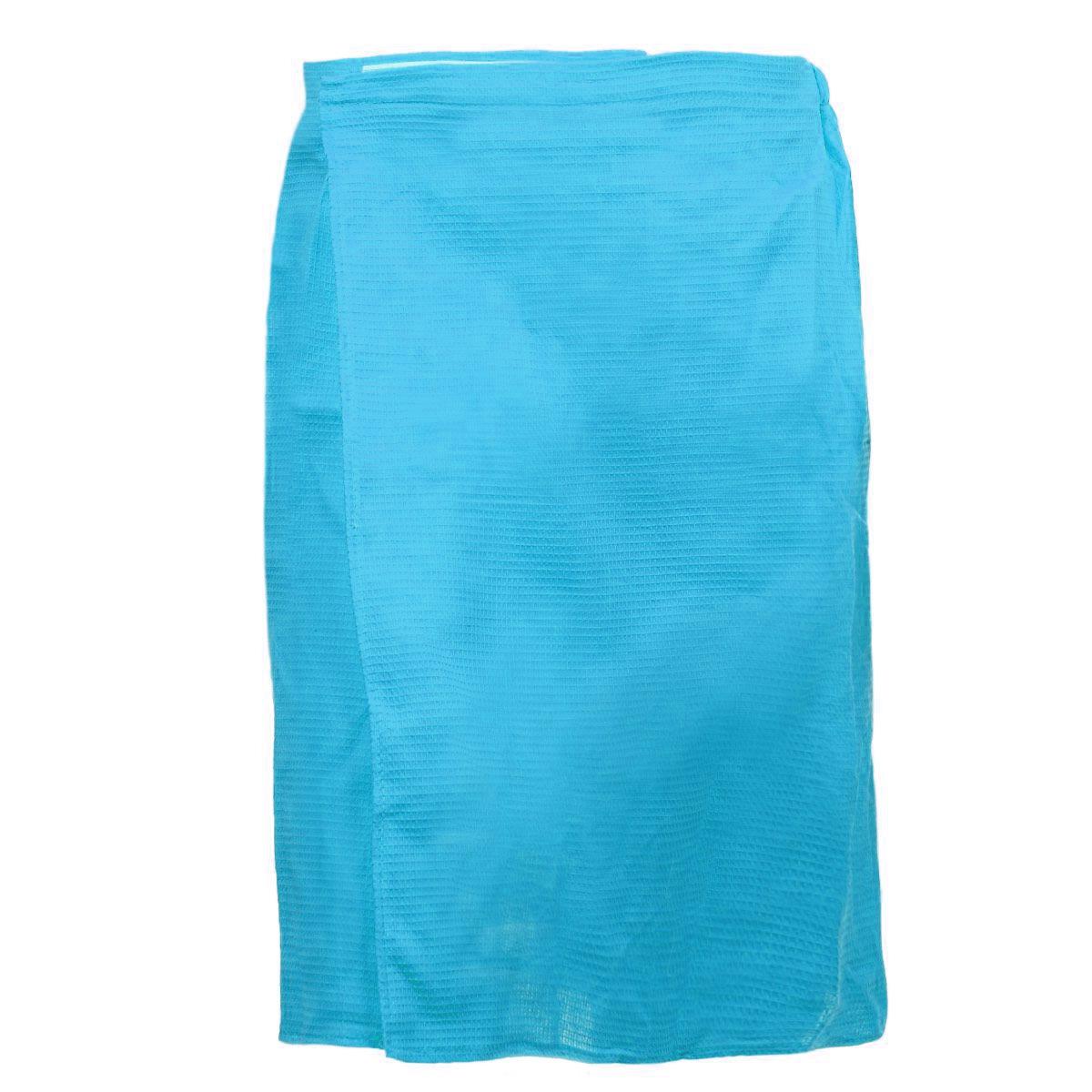 Килт для бани и сауны Банные штучки, мужской, цвет: голубой32060_голубойВафельный килт для бани и сауны Банные штучки, выполненный из натурального хлопка, привлечет внимание любителей модных тенденций в банной одежде. Килт - это многофункциональное полотенце специального покроя с резинкой и застежкой. В парилке можно лежать на нем, после душа вытираться, а во время отдыха использовать как удобную накидку. Длина килта: 60 см. Ширина килта: 145 см. Размер: 36-60.