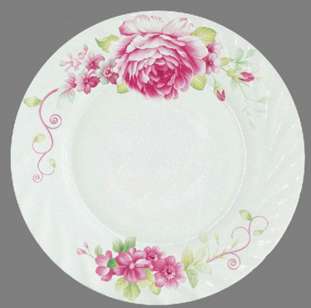 Тарелка обеденная Chinbull Римини, диаметр 23 смHP-90/6643Обеденная тарелка Chinbull Римини, изготовленная из высококачественной стеклокерамики, украшена ярким цветочным рисунком. Изящный дизайн придется по вкусу и ценителям классики, и тем, кто предпочитает утонченность. Тарелка Chinbull Римини идеально подойдет для сервировки стола и станет отличным подарком к любому празднику. Диаметр (по верхнему краю): 23 см.