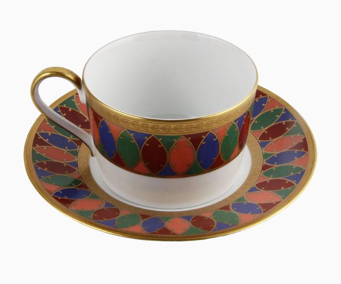 Чайная пара Карсавина. Фарфор, роспись, деколь. Фаберже, Франция, конец XX века