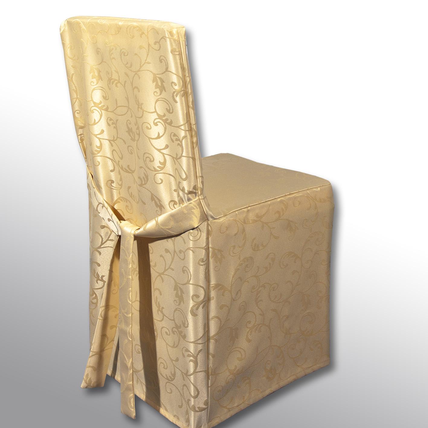 Чехол на стул Schaefer, цвет: бежевый, 45 х 45 х 45 см4121/Fb.21Чехол на стул Schaefer выполнен из полиэстера с красивым узором. На спинке чехол завязывается на завязки. Предназначен для классического стула со спинкой. Такой чехол изысканно дополнит интерьер вашего дома.