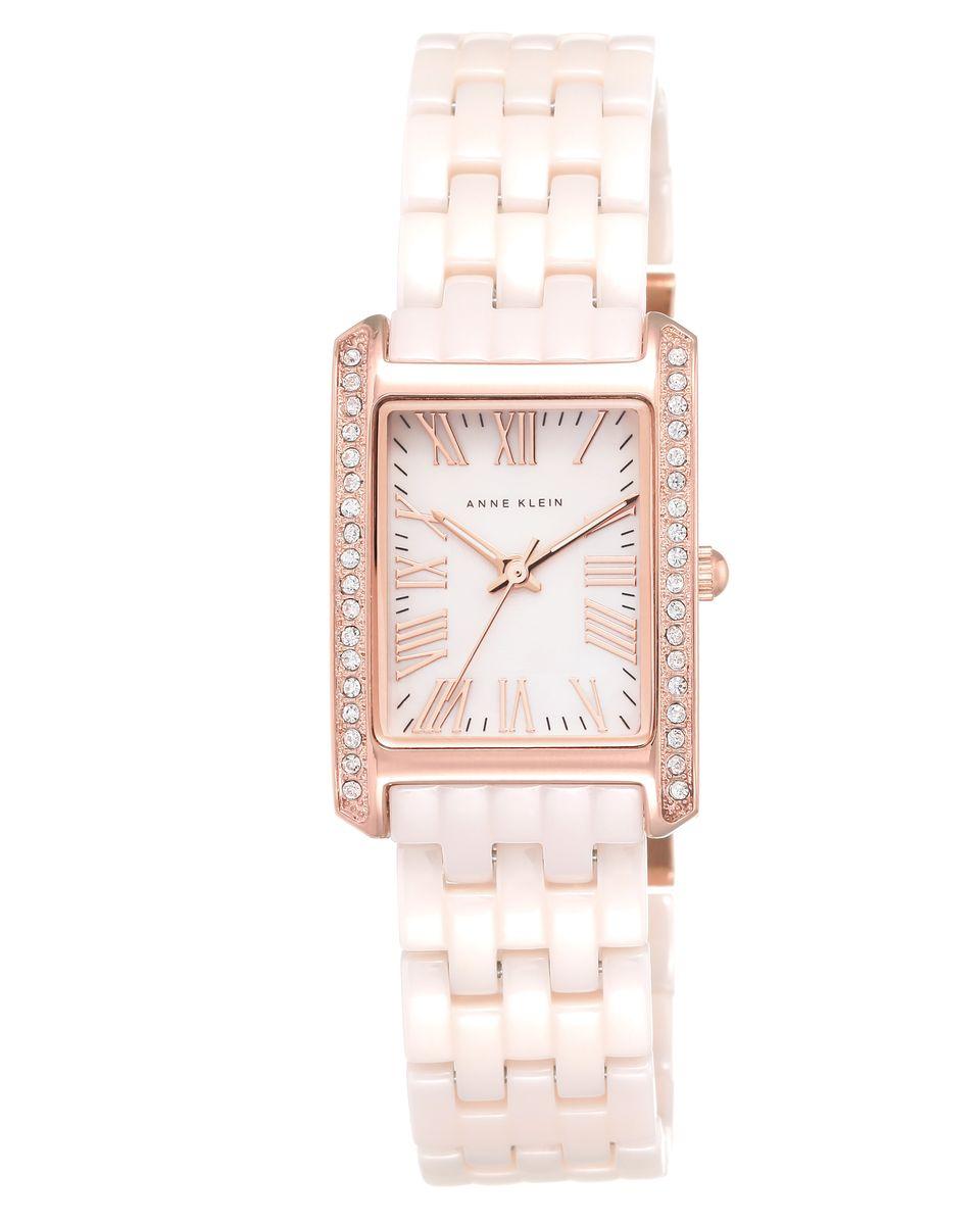 Наручные часы женские Anne Klein, цвет: розовый. 2138 RGLP2138 RGLPКорпус- 23*33 мм, PVD покрытие розового цвета, 23*33 мм, циферблат из натурального перламутра розового цвета, браслет- керамика розового цвета, кристаллы Svarowski, стекло минеральное, механизм кварцевый, водозащита- 3 АТМ
