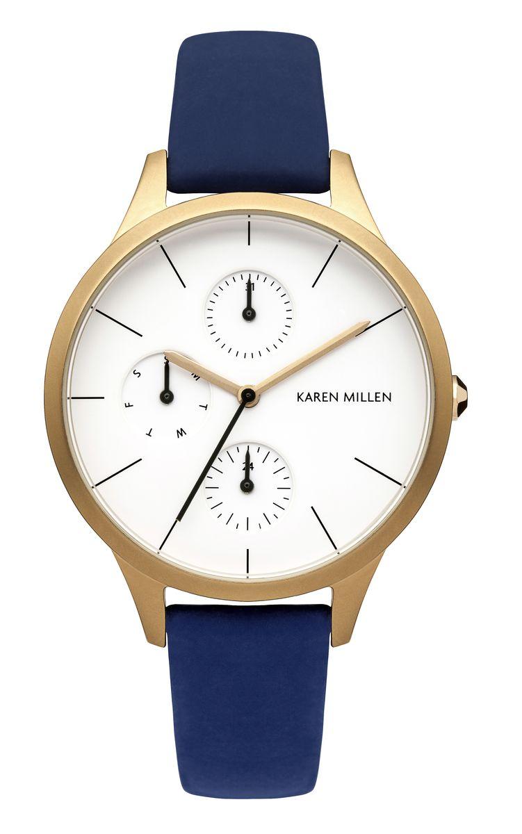 Наручные часы женские Karen Millen, цвет: золотой. KM144UG