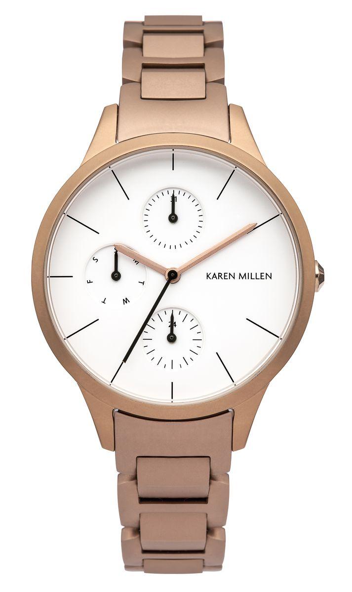 Наручные часы женские Karen Millen, цвет: золотой. KM144RGM