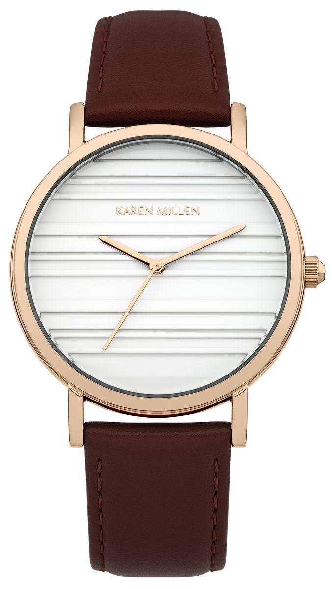 Часы наручные женские Karen Millen, цвет: золотой, темно-бордовый, белый. KM154VRG