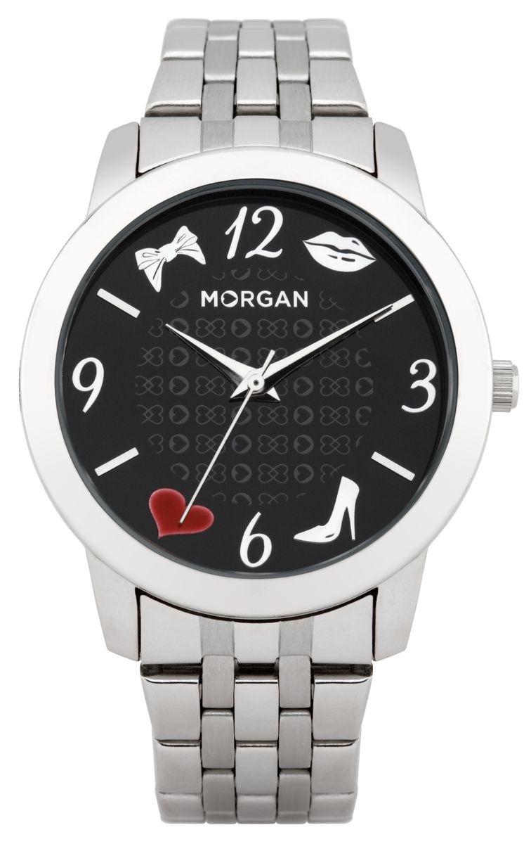 Часы наручные женские Morgan, цвет: серебристый, черный. M1140BMM1140BMОригинальные женские часы Morgan выполнены из нержавеющей стали и минерального стекла. Циферблат часов дополнен символикой бренда. Корпус часов оснащен кварцевым механизмом, имеет степень влагозащиты равную 3 atm, а также дополнен устойчивым к царапинам минеральным стеклом. Браслет часов оснащен замком-клипсой, который позволит с легкостью снимать и надевать изделие. Часы поставляются в фирменной упаковке. Часы Morgan подчеркнут изящность женской руки и отменное чувство стиля у их обладательницы.