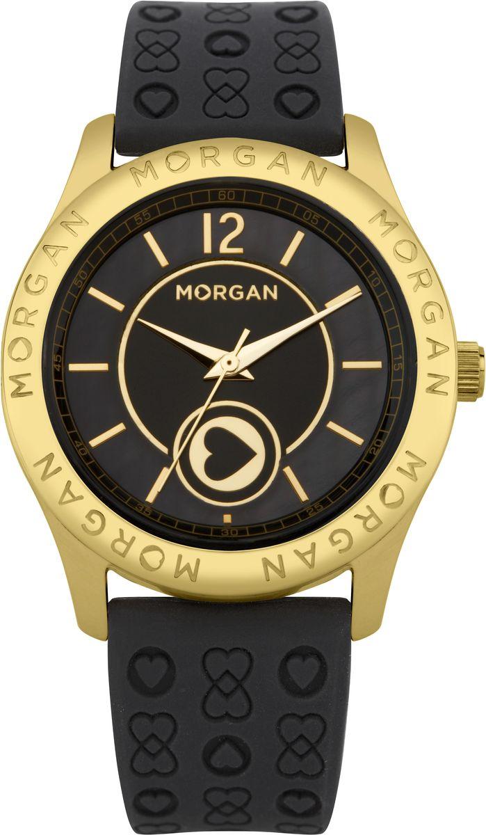 Часы наручные женские Morgan, цвет: золотой, черный. M1132BGBRM1132BGBRОригинальные женские часы Morgan выполнены из нержавеющей стали с IP-покрытием, силикона и минерального стекла. Циферблат часов дополнен символикой бренда. Корпус часов оснащен кварцевым механизмом, имеет степень влагозащиты равную 3 atm, а также дополнен устойчивым к царапинам минеральным стеклом. Ремешок часов оснащен классической пряжкой, которая позволит с легкостью снимать и надевать изделие. Часы поставляются в фирменной упаковке. Часы Morgan подчеркнут изящность женской руки и отменное чувство стиля у их обладательницы.