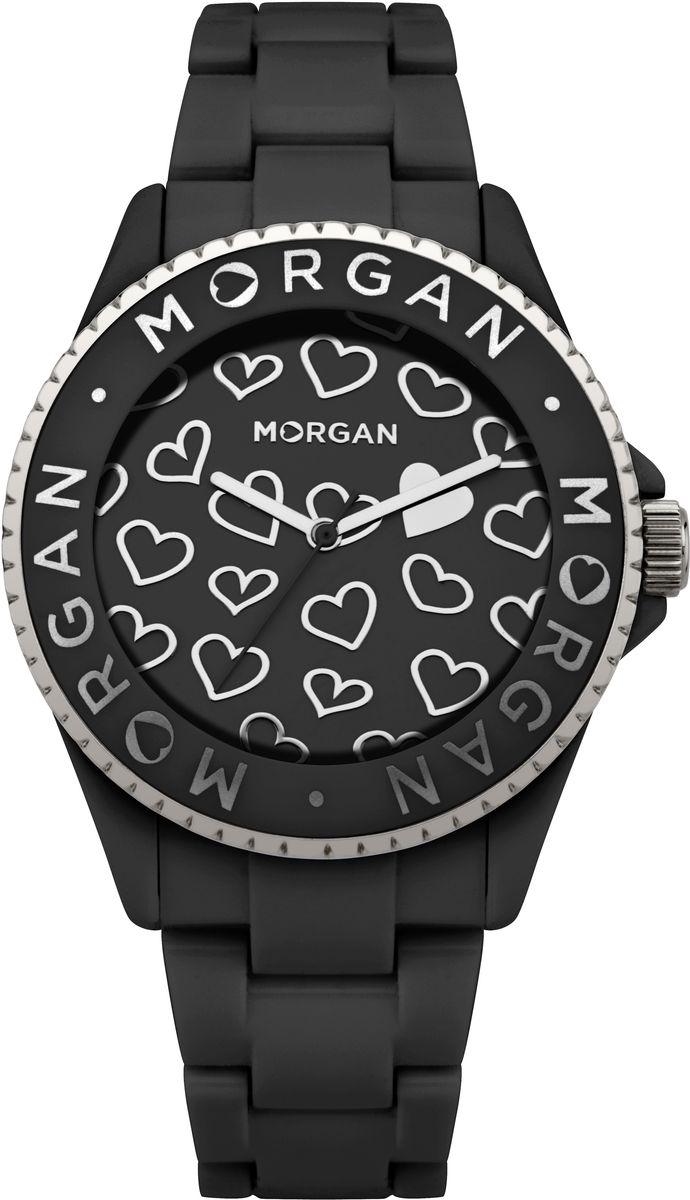 Часы наручные женские Morgan, цвет: черный. M1142BM1142BОригинальные женские часы Morgan выполнены из металлического сплава, пластика и минерального стекла. Циферблат и корпус изделия дополнены символикой бренда. Корпус часов оснащен кварцевым механизмом, имеет степень влагозащиты равную 3 atm, а также дополнен устойчивым к царапинам минеральным стеклом. Браслет часов оснащен замком-клипсой, который позволит с легкостью снимать и надевать изделие. Часы поставляются в фирменной упаковке. Часы Morgan подчеркнут изящность женской руки и отменное чувство стиля у их обладательницы.
