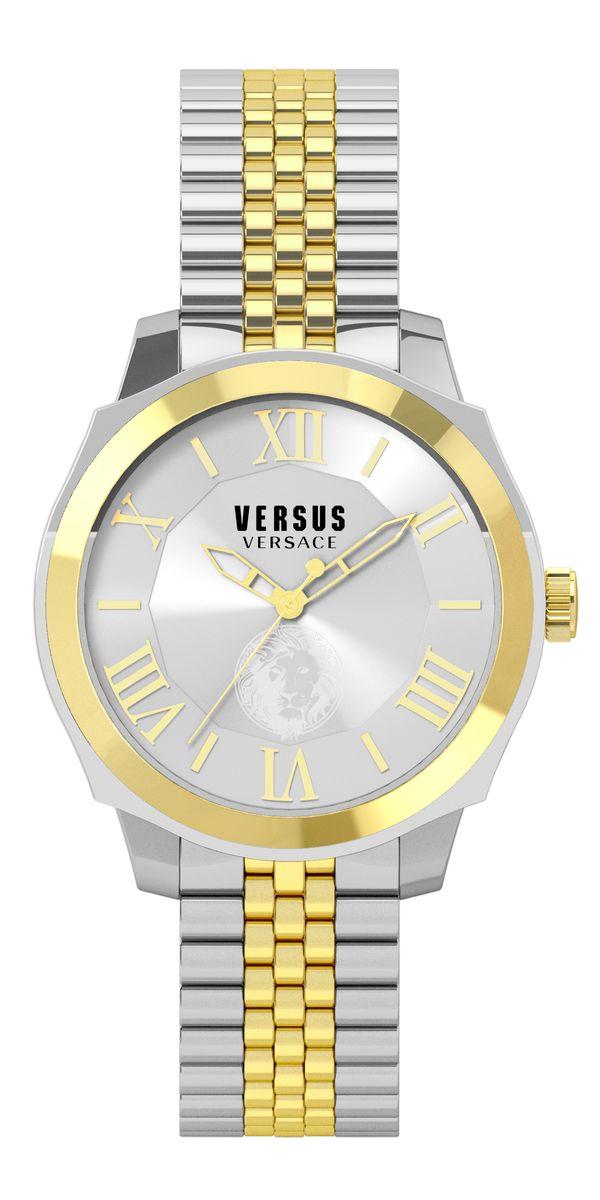 Наручные часы женские Versus Versace, цвет: золотой. SOV04 0015SOV04 00153 стрелки, механизм кварцевый Citizen_2025, сталь, диаметр циферблата 42 мм, браслет, застежка из стали, стекло минеральное, водонепроницаемость - 3 АТМ