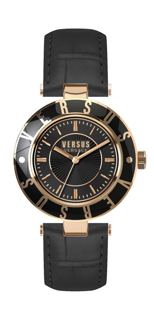 Наручные часы женские Versus Versace, цвет: коричневый. SP816 0015SP816 00153 стрелки, механизм кварцевый Citizen_2025, сталь, диаметр циферблата 34 мм, кожаный ремешок, застежка из стали, стекло минеральное, водонепроницаемость - 3 АТМ