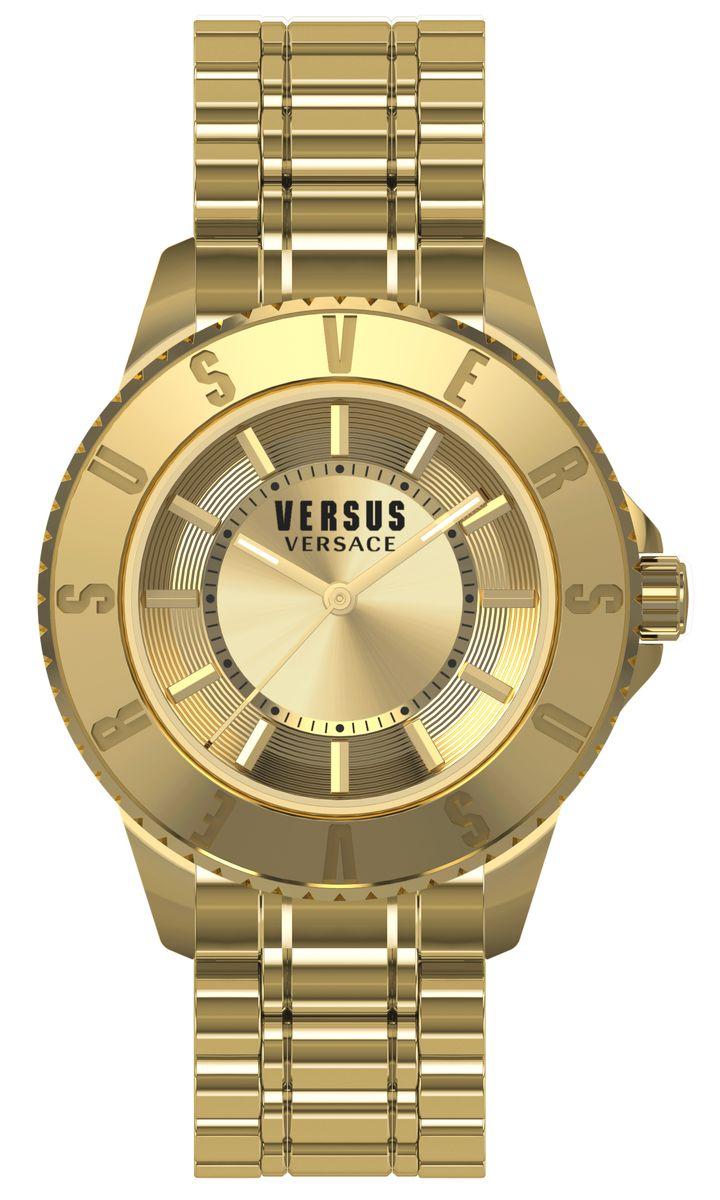 Наручные часы женские Versus Versace, цвет: золотой. SGM22 0015SGM22 00153 стрелки, механизм кварцевый Citizen_2025, сталь, диаметр циферблата 34 мм, кожаный ремешок, застежка из стали, стекло минеральное, водонепроницаемость - 3 АТМ