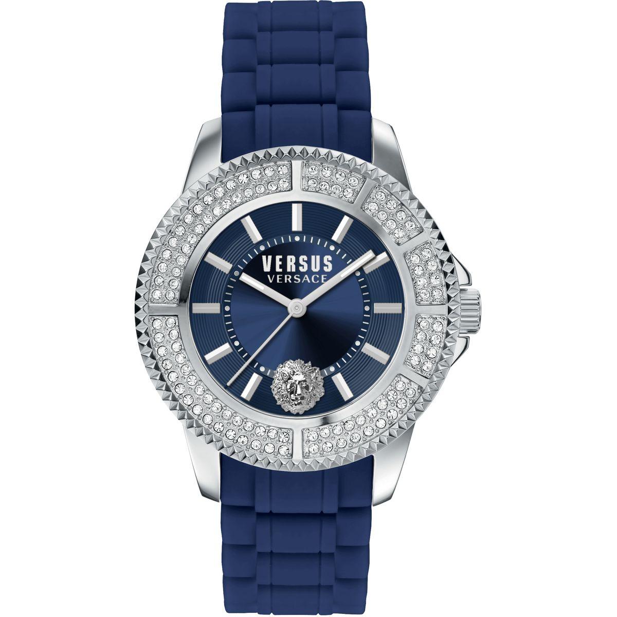 Наручные часы женские Versus Versace, цвет: серебристый. SGM24 0015SGM24 00153 стрелки, кварцевый механизм Citizen_2035, сталь, каучуковый ремешок, застежка из стали, минеральное стекло, кристаллы SWAROVSKI, водонепроницаемость 5 АТМ.