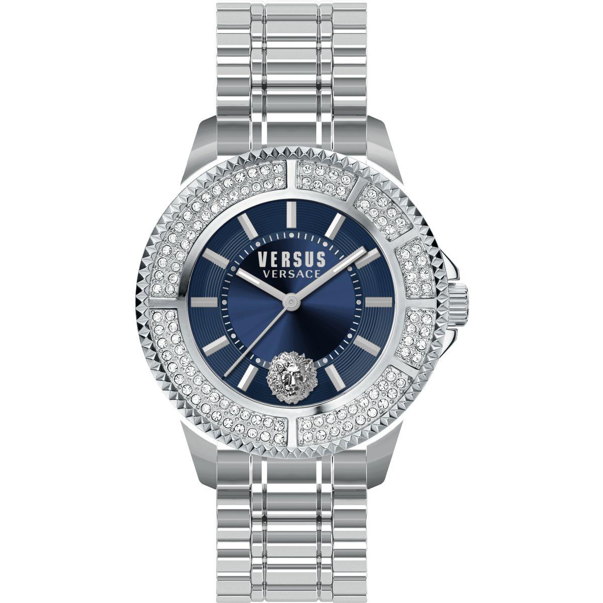 Наручные часы женские Versus Versace, цвет: серебристый. SGM25 0015SGM25 00153 стрелки, кварцевый механизм Citizen_2035, сталь, браслет, застежка из стали, минеральное стекло, кристаллы SWAROVSKI, водонепроницаемость 5 АТМ.