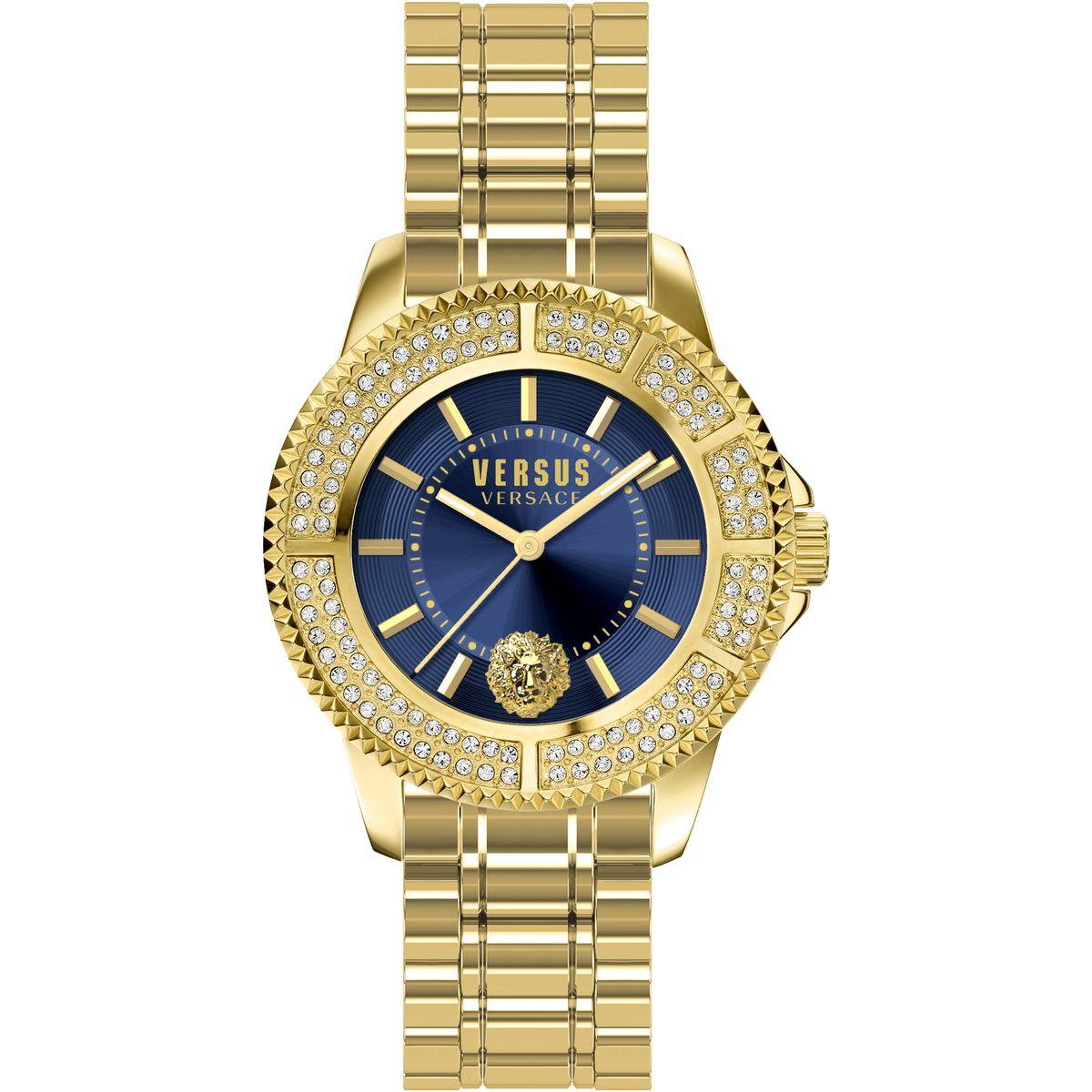 Наручные часы женские Versus Versace, цвет: золотой. SGM25 0015SGM25 00153 стрелки, кварцевый механизм Citizen_2035, сталь, браслет, застежка из стали, минеральное стекло, кристаллы SWAROVSKI, водонепроницаемость 5 АТМ.